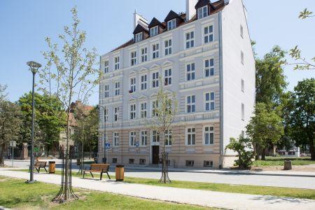 Odrestaurowana kamienica przy ul. Wróbla w Gdańsku